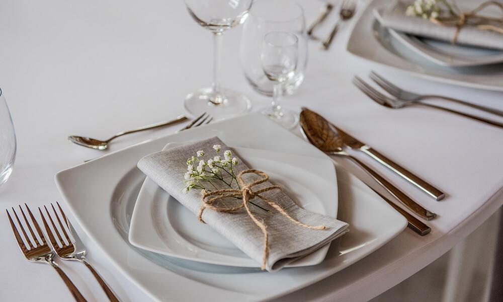 sale weselne gliwice - zastawa stołowa