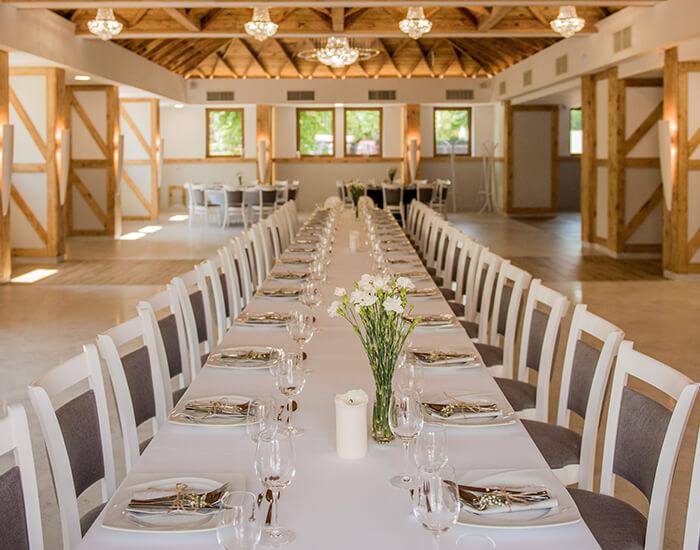 duża sala bankietowa - obiad firmowy