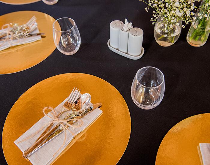 gliwice sale weselne - zastawa stołowa